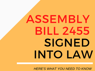 Assembly Bill 2455 Signed into Law