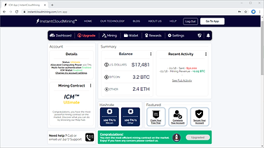 ICM Bitcoin Mining Software 2021 UI