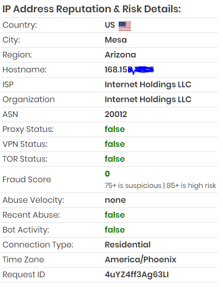Proxy VPN Detection