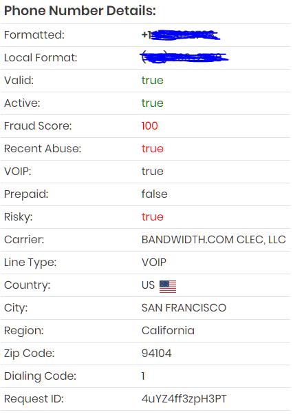 Phone Validation API