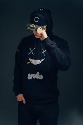 """""""YOLO"""" Black Hoodie"""
