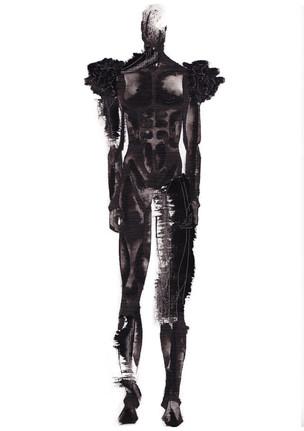 Outfit 1 - Zeichnung