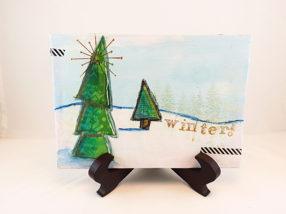 Winter! Mixed media art