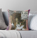Life of a Loaf throw pillow