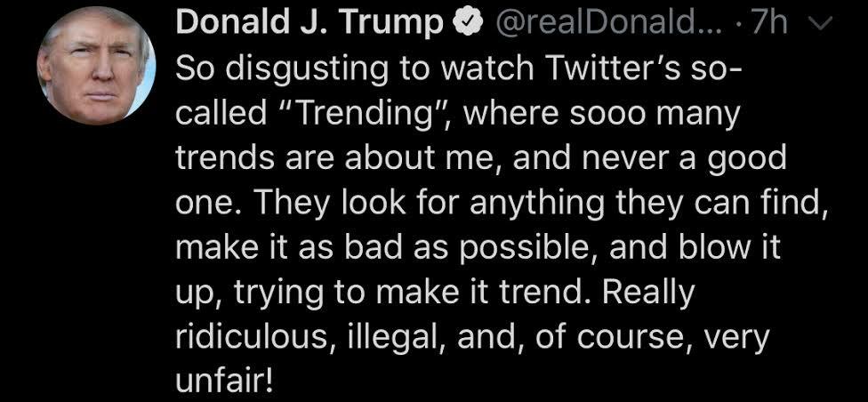 President Trump's July 27th Tweet