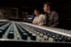 Jonathan Kranz and Dino Dumandan in music post production