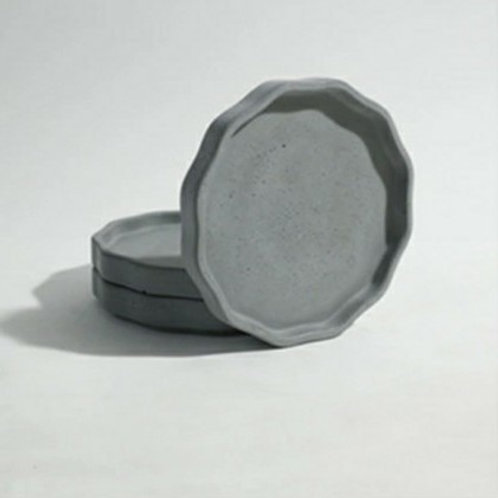 Round Geo Planter Tray - 12cm