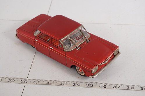 Tin Toy Friction Car - 1960s Chevrolet Corvair