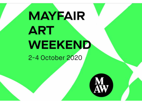 Mayfair Art Weekend 2-4 October, 2020