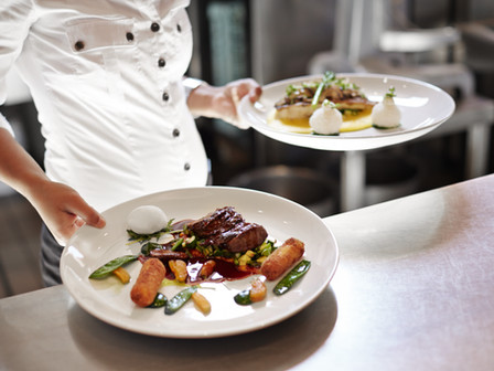 Venda de refeições por restaurantes