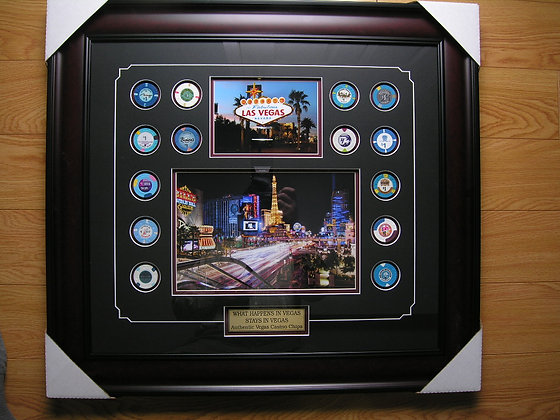 Collection of Authentic Vegas Casino Chips