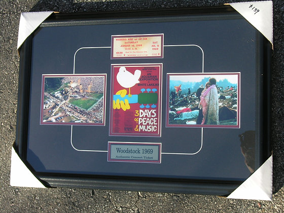 Actual Woodstock Ticket