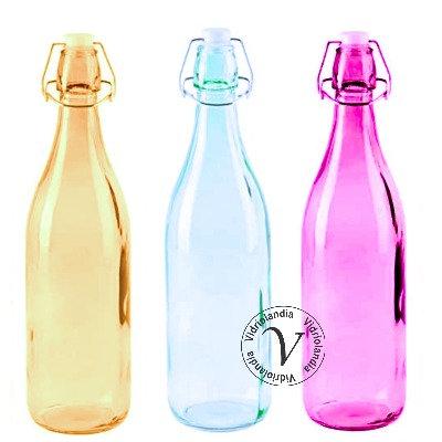 Combo de Botellas de Color Hermética 1 Litro (Surtido))