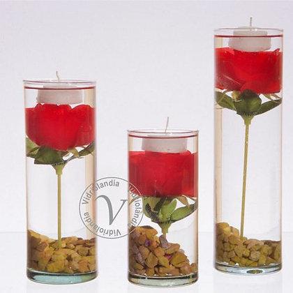 Trio Cilindros con Flor