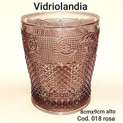Vaso color Rosa. Cod.018