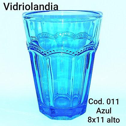 Vaso color Azul. Cod.011