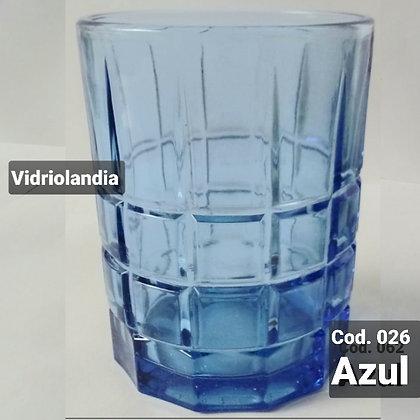 Vaso color Azul Cod.026