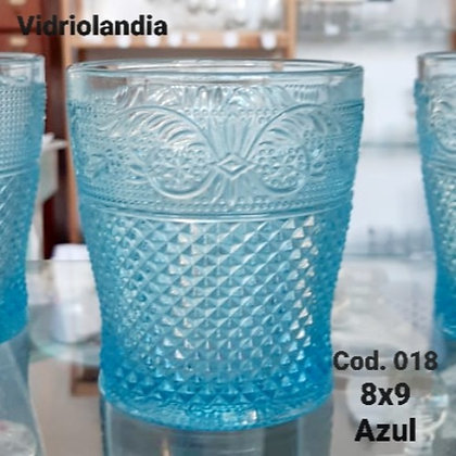 Vaso color Azul. Cod.018