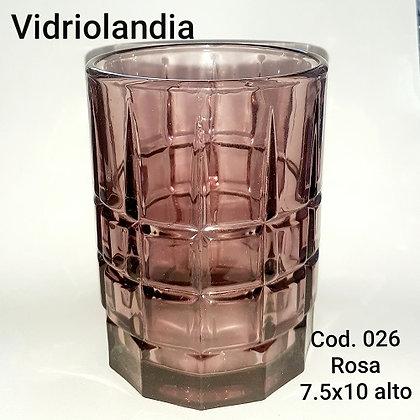 Vaso color Rosa.       Cod.026