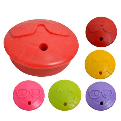 Tapones para  frasco Emoji con agujero x50