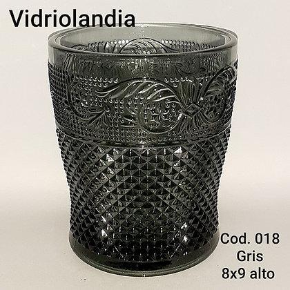 Vaso color Gris. Cod.018