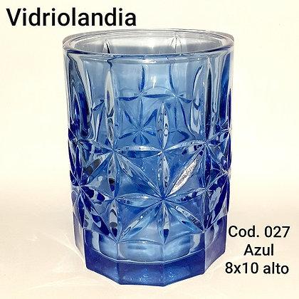 Vaso color Azul. Cod.027