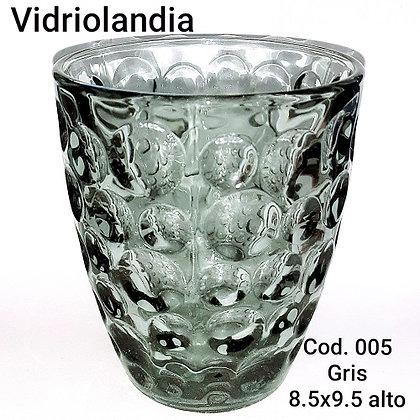 Vaso color Gris.       Cod.005