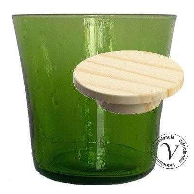 Tarro con tapa madera (verde 071 P)