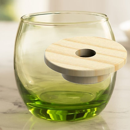 Mini Bombe Verde con Tapa agujero