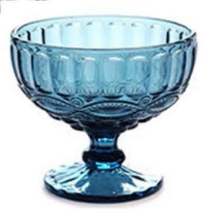 Copa azul tipo compotera