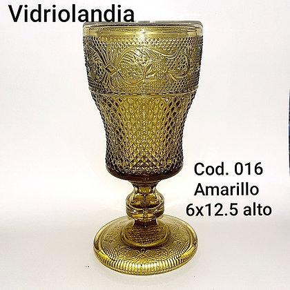 Copa color Amarillo. Cod.016