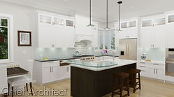 Kitchen white island cabinets remodel iowa des moines builder hometile granite countertop  modern design custom