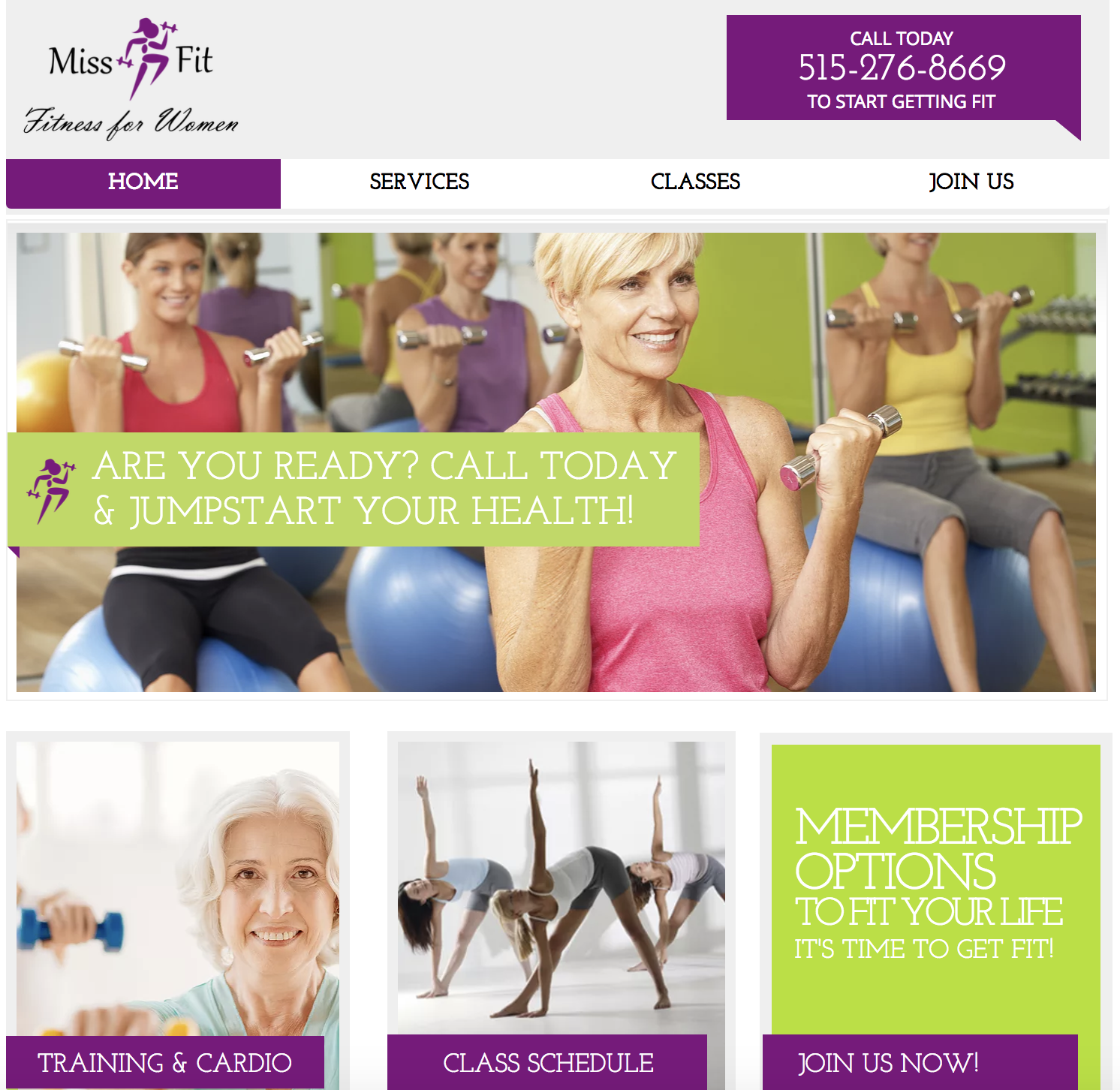 Miss Fit Website