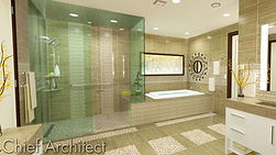 Bathroom remodel iowa des moines builder home bathroom tile granite countertop shower bathtub modern design custom