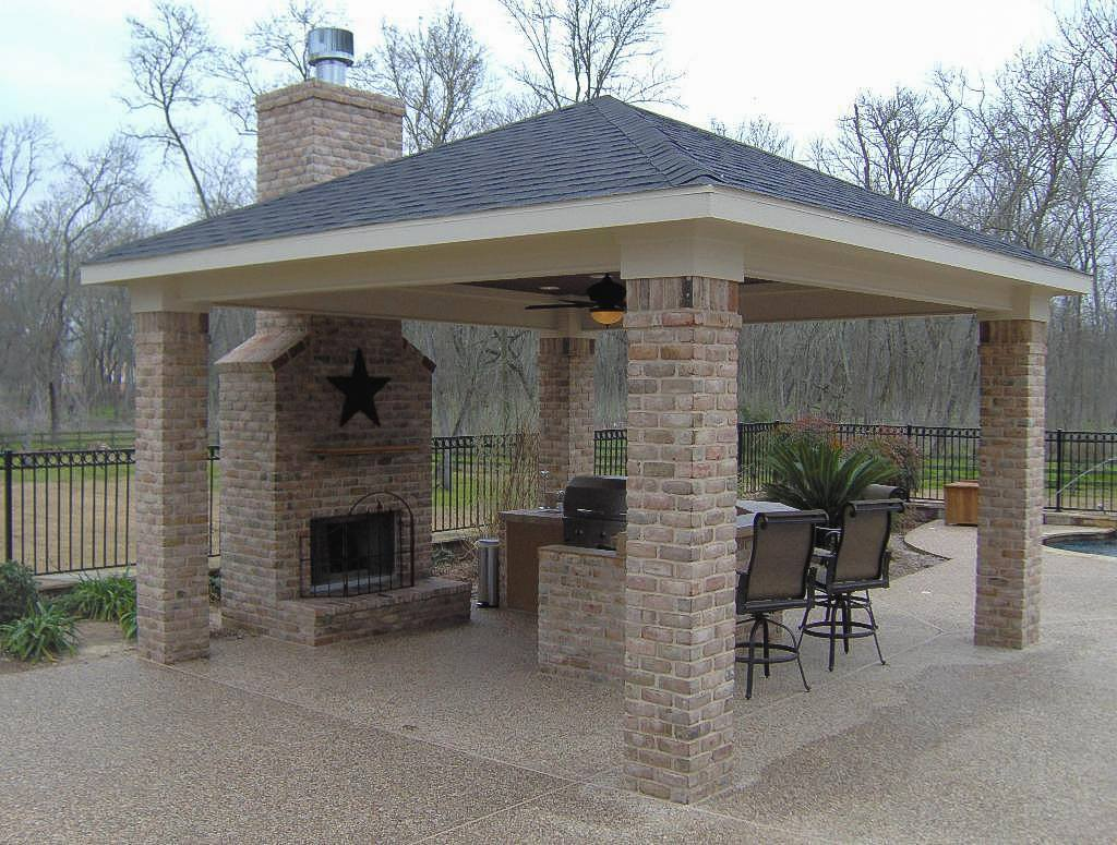 Outdoor backyard pergola construction