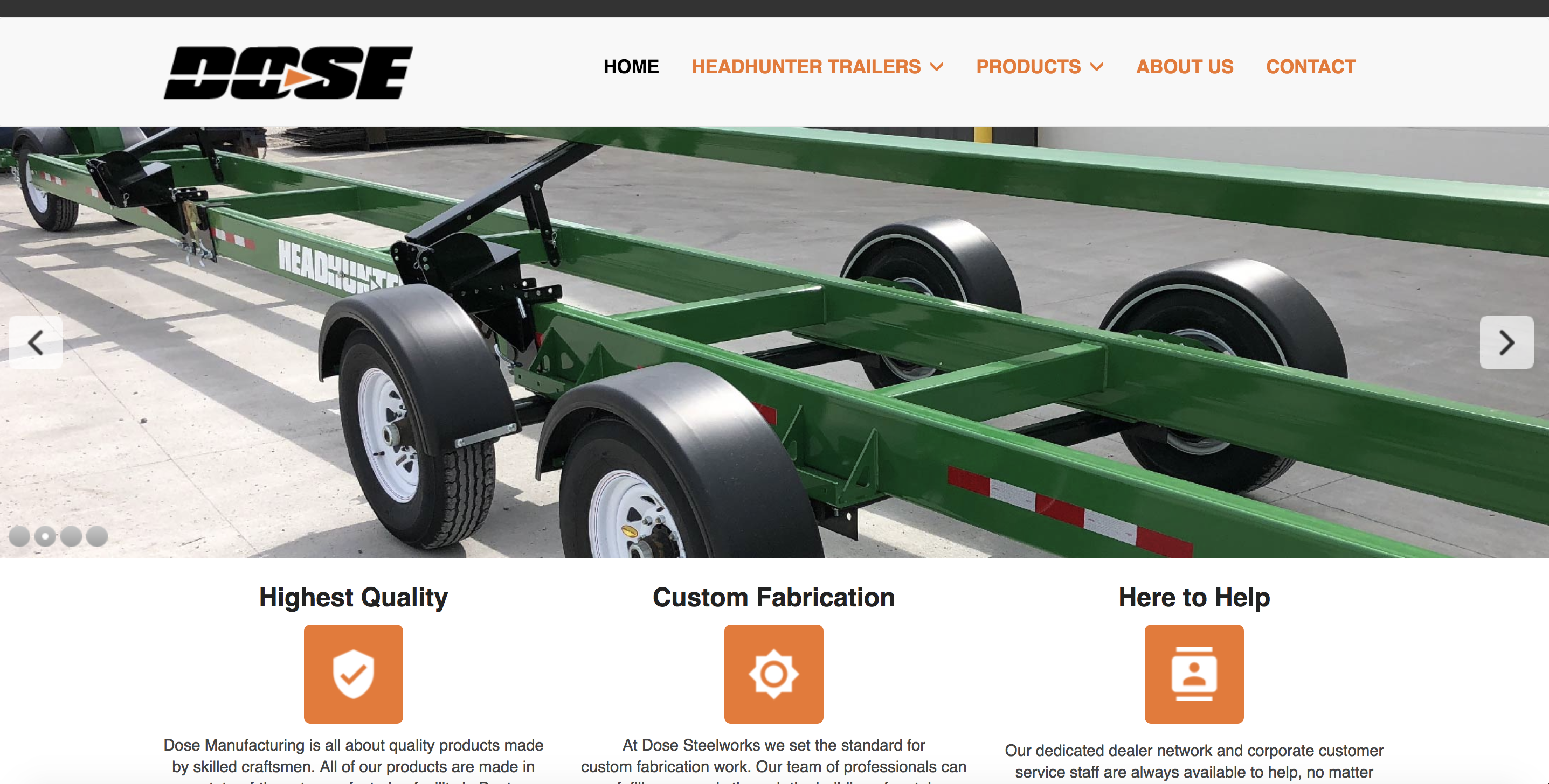 Dose Manufacturing Website