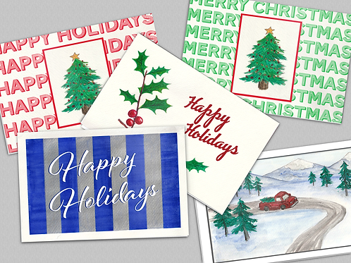 10 Pack of Holiday Postcards