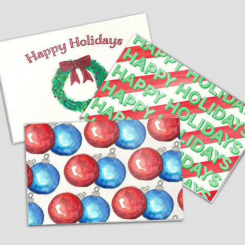 5 pack of Holiday Postcards
