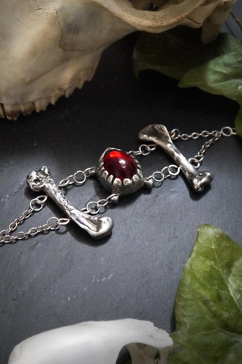 Pewter Bone Bracelet