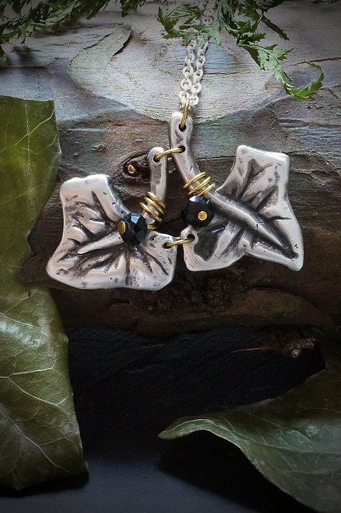Pewter Ivy Leaf Necklace