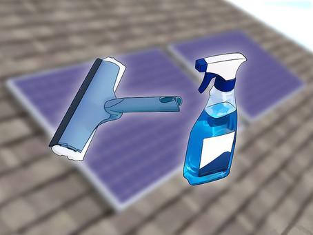 Como limpar seus painéis solares