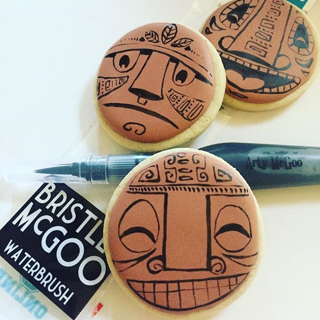 Got to play with a new tool this weekend, the Bristle McGoo waterbrush from _artymcgoo..