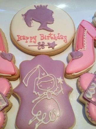 Pretty Pink Princess Cookies