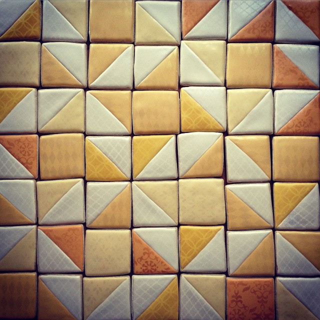 Instagram - Another fun stenciled project. A monochromatic cookie quilt for a sh