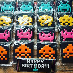 My son _ordered_ retro video game cookies for his birthday party today, lol