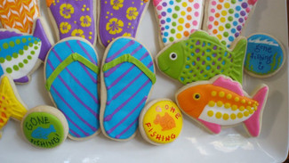Summer Fun... Flip flops and fishes!