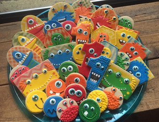 Colorful Birthday Monsters