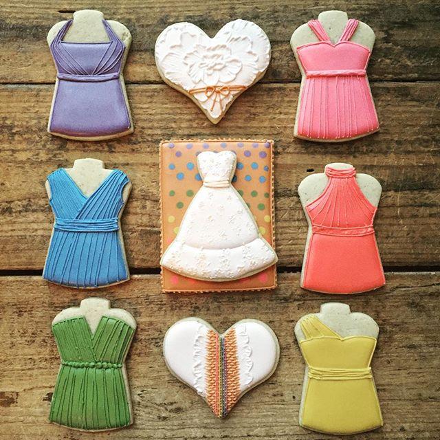 Rainbow themed bridal shower set