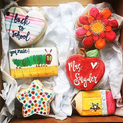 I channeled my inner Carle to make these fun back to school cookies yesterday