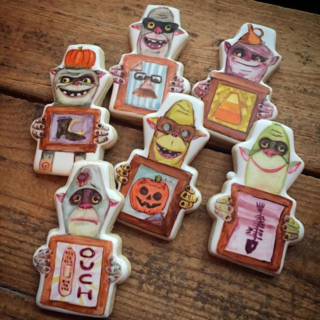 Last Halloween set of the season... Halloween BoxTrolls!! These were an inside joke for the family (